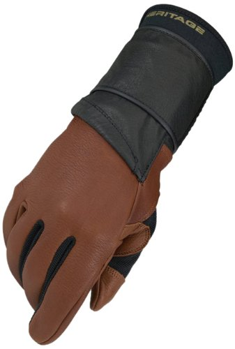 Heritage Pro 8.0 Bull Riding Gloves, Size 8, Saddle - Riding Equipment