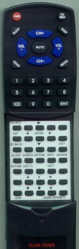 GENERAL INSTRUMENTS Replacement Remote Control for 41443400100, 47343000100, 922, DSR922, URC941