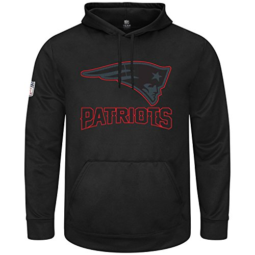 Majestic HEATHLY Hoody - NFL New England Patriots Black - XXL