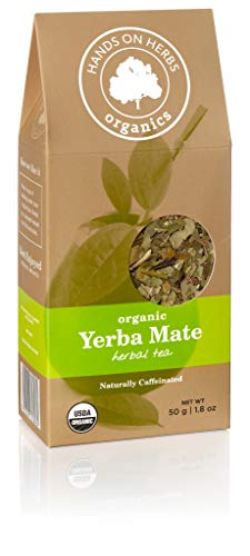 Hands on Herbs Organics Yerba Mate Organic Loose Leaf Tea | Focus and Energy Without the Jitters of Coffee | Metabolism Booster | Potent in Antioxidants and Amino Acids 1.8 ounces | 50 grams