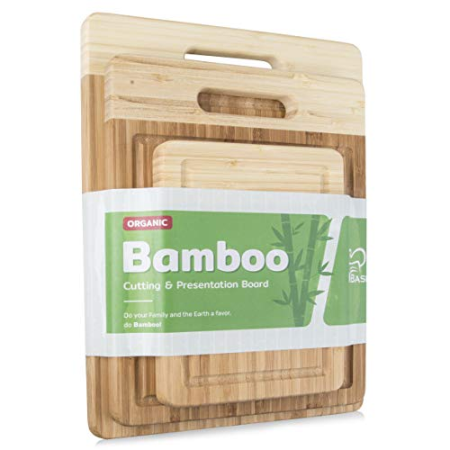 K BASIX Bamboo Cutting Board 3 Piece Set