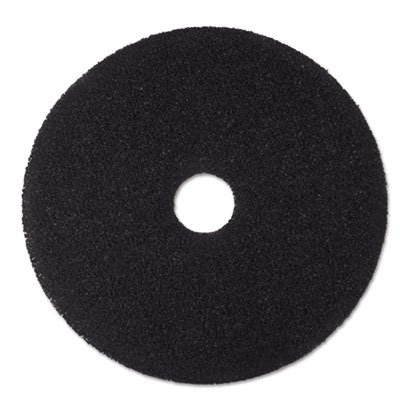 3M 08380 Low-Speed Stripper Floor Pad 7200, 18'' Diameter, Black (Case of 5) by 3M