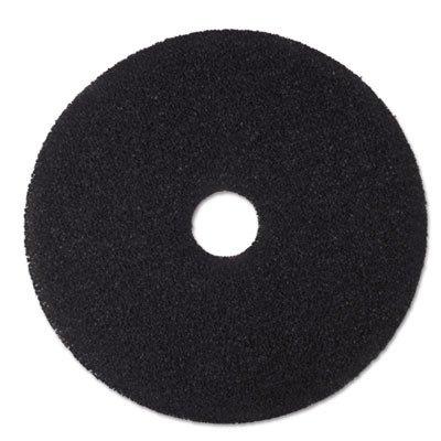 3M 08380 Low-Speed Stripper Floor Pad 7200, 18'' Diameter, Black (Case of 5)