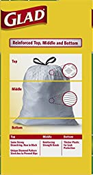 Glad OdorShield Drawstring Tall Kitchen Trash Bags, Gain Original, 13 Gallon, 100 Count (Packaging May Vary)