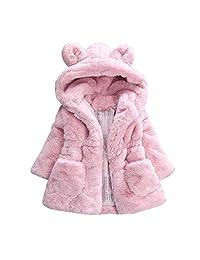 Perman Baby Girl Fur Winter Warm Coat Cloak Jacket Thick Warm Clothes