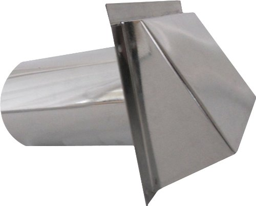 Speedi-Products SM-RWVD 6 Wall Vent Hood with Spring Damper, (Metal Vent Cap)