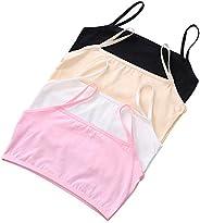 Juze Teen Girls Student Cotton First Training Bra 4 Pack