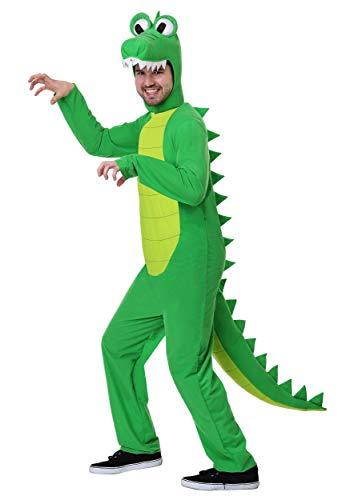 Adult Plus Size Goofy Gator Costume 2X Green]()
