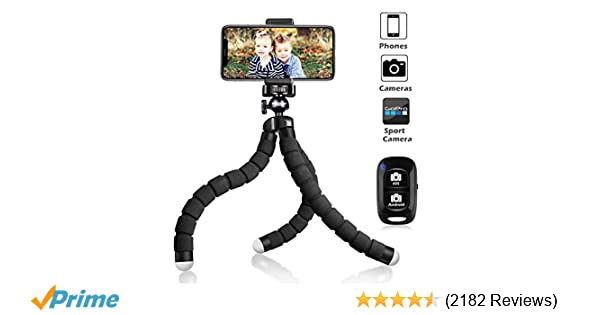 UBeesize Tripod S, Premium Phone Tripod, Flexible Tripod with Wireless  Remote Shutter, Compatible with iPhone/Android Samsung, Mini Tripod Stand