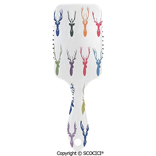 - Detangling Hair Brush Soft Comb Cushion Air Collection of Various Reindeer Antlers Illustration Wild Life Decorative Decorative Hairbrush for Women Reducing Hair Breakage and Frizzy, No More Tangle