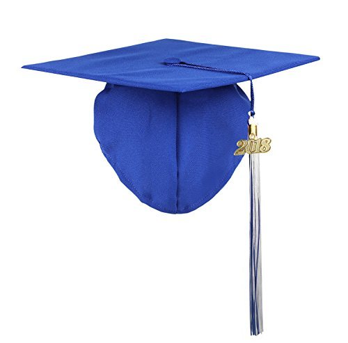 (2018 Year Charm Available)2017 Kindergarten Kids Baby Toddler Graduation Cap Tassel Photography Royal Blue---YesGraduation … ()