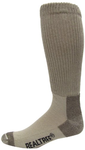 Realtree AP Men's Non-Binding Boot Socks (1-Pair), Khaki, Large
