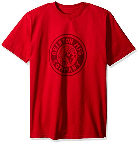 Brixton Rival Red shirt burgundy Men's T rPCwfprqx