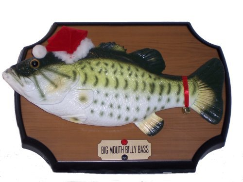 Big Mouth Bass - Big Mouth Billy Bass Sings for the Holidays! Motion Sensor Animated Christmas 2000