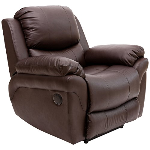 More4Homes (tm) MADISON ELECTRIC BONDED LEATHER AUTOMATIC RECLINER ARMCHAIR...
