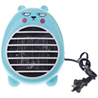 AISme 220V Electric Mini Space Heater Heating Winter Warmer Household Dryer Office Desktop (Blue)