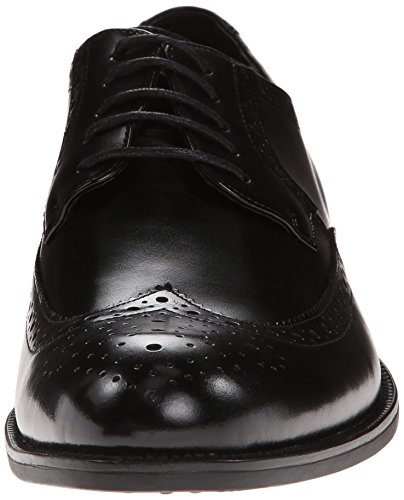 Stacy Adams Mens Garrison Wingtip Lace-up Oxford Nero