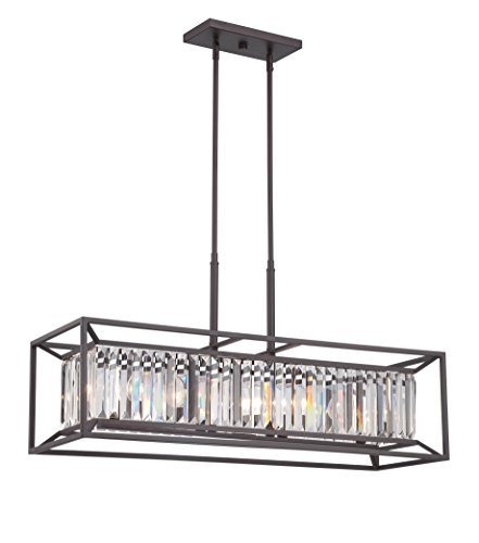 Designers Fountain 87438-VB Linares 4 Light Linear Chandelier ()