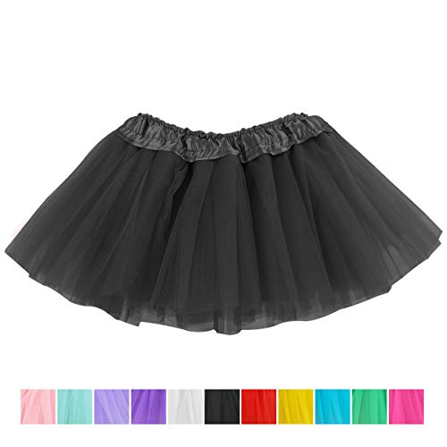 (belababy Black Skirt Baby Girls 5 Layers Tulle Tutu, 0-24)