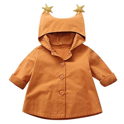 Naladoo Baby Girls Boys Kids Down Jacket Hooded Children Warm Solid Cotton Coat