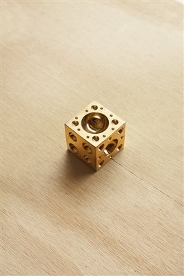 """SE JT3412DB 1-1/2"""" x 1-1/2"""" Brass Square Dapping Block from SE"""