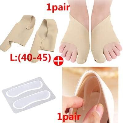 Mdsfe Eversion ortesis Separador del Dedo del pie Almohadilla Almohadilla Herramienta para el Cuidado de los pies alisador del Pulgar del Hueso Almohadilla antifricción Pegatina del Zapato - V-2pair