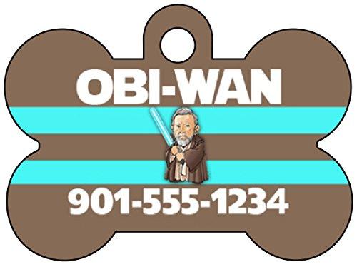 Disney Star Wars Obi-Wan Kenobi Pet Id Dog Tag Personalized w/ Name & Number]()