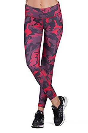 WITH Women's Leggings Urban Camo Red Small