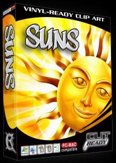 Sun Suns Vector Clipart Vinyl Cutter Slgn Design Artwork-EPS Vector Art Software plotter Clip Art Images by Cut Ready Clipart