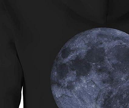 Zip Up Hoodie Full Moon Glowing in The Sky