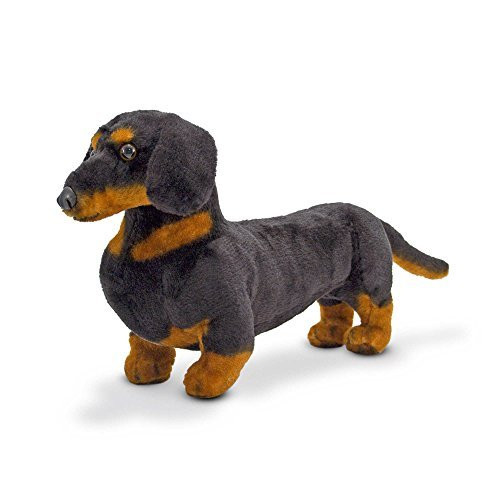 Doug Dachshund - Black-and-Tan Dachshund Dog Stuffed Animal