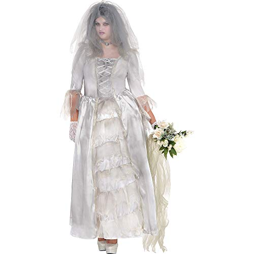 Scary Bride Costumes (Ghost Bride Adult Costume - Plus Size)
