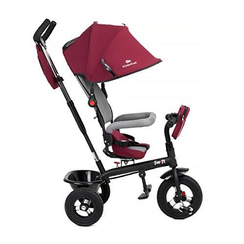KinderKraft Swift 6in1 Dreirad für Kinder mit Zubehör in 2 Farben (Rot)