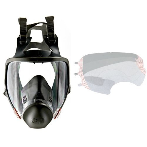 3M Full Facepiece Reusable Respirator 6900, Respiratory Protection, Large (Pack of 1) and  Faceshield Cover 6885/07142(AAD), Respiratory Protection Accessory  (Pack of 25) bundle