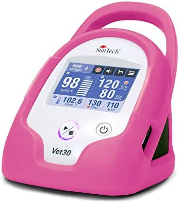 SunTech Vet30 Veterinary Continuous Vital Signs Monitor with Masimo Sp02 (Flamingo Pink)