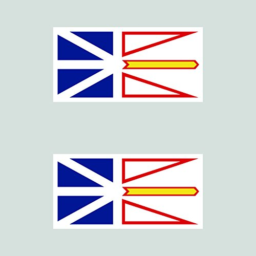 Two Pack Newfoundland and Labrador Flag Sticker FA Graphix Self Adhesive Vinyl Canada nl Province