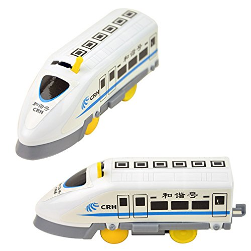 (Naughtytoys Harmony number electric rail train high speed train rail high speed EMU toy)