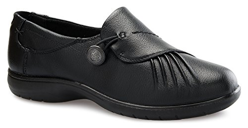OLIVIA K Women's Relaxed Fit Easy Slip On Mary Jane Zipper Velcro Buckle Closure Padded Collar Resistant Office Work School Uniform Daily Life Flatform Shoes by OLIVIA K