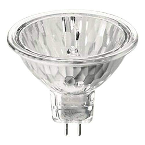 Philips Halogen Light Bulbs / Landscape Indoor or Outdoor Flood / Dimmable 50w Mr16 12v 2 Pin 36 Angle Gu5.3 Base (Pack of 5)