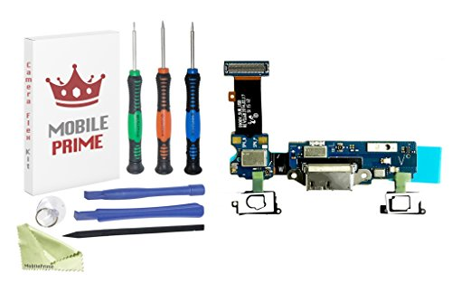 MOBILEPRIME Charging Port Replacement Kit Compatible for Samsung Galaxy S5 (G900V) Including Pro-Series Repair Tools