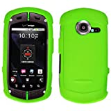 Importer520 (TM) Rubberized Snap-On Hard Skin Protector Case Cover For Casio G'zOne Commando C771 - Neon Green