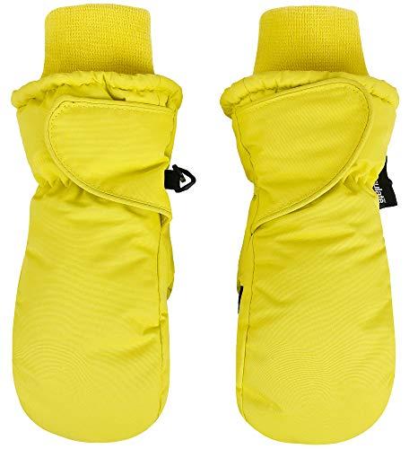 SimpliKids Grils Snow Sports 3M Thinsulate Waterproof Winter Ski Mittens ,XS,Yellow