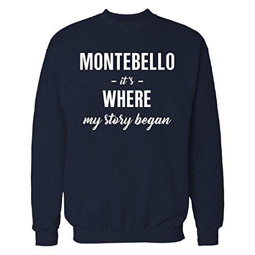 Inked Creatively Montebello It's Where My Story Began Cool Gift - Sweatshirt Navy_Blue - Shops Of Montebello