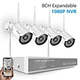 [2019 New] Security Camera System Wireless,Safevant 8CH 1080P NVR Wireless Security Camera System(No Hard Drive),4PCS 960P Indoor/Outdoor Wireless Security Cameras,Auto Pair,No Monthly Fee