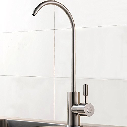 Shaco Commercial Bar Best Stainless Steel Single Lever Single Hole Brushed Nickel Drinking Water Purifier Faucet,360 Degree Swivel Sink Water Faucet