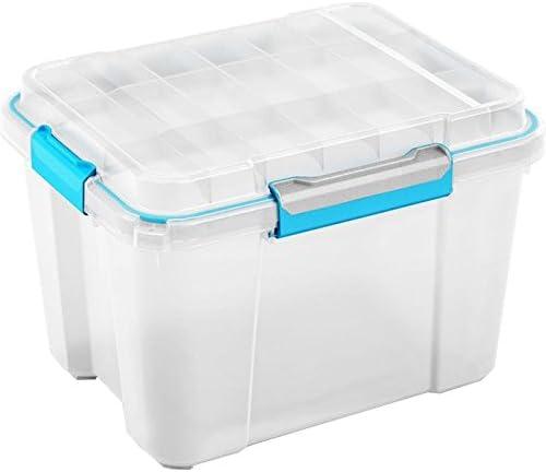 SIK Kis 8433000 0485 01 Scuba Box – Caja de almacenaje de plástico Transparente/Azul 43 L: Amazon.es: Hogar
