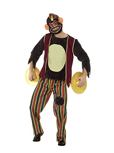 Smiffys Men's Deluxe Clapping Monkey Toy Costume,