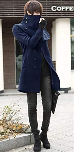 Navy Blau Elegant Winter Mens Jacket Men's Windbreaker Jacket Coat Long Winter Overcoat Men Men Huixin Section Long Apparel Parka Winter Hw8FUFqO