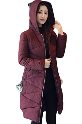 Abrigo Winered Chaqueta La Casual Puffer Winter Parkas Hooded Mujer Chaquetas vnUwqH7x