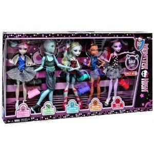 Monster High Dance Class 5 Pack – Rochelle Goyle, Gil Webber, Robecca Steam, Lagoona Blue, and Operetta, Baby & Kids Zone